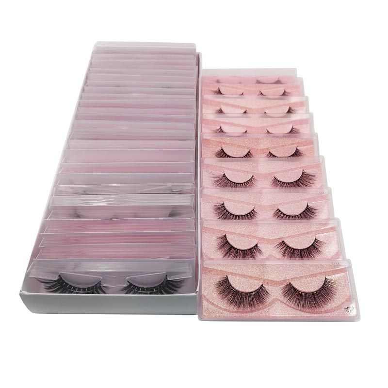 Lashes toptan vizon kirpik toplu vizon kirpikleri doğal sahte kirpik uzantıları yanlış Lashes cilios maquiagem 20/30/50 adet