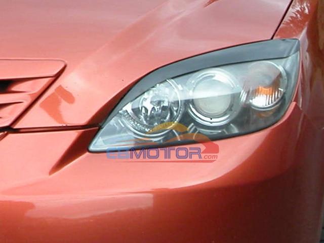 UNPAINTED Headlight Eyelids Eyebrows Covers 1pair for Mazda 3 Axela Wagon 5Door 2004-2009  T037EF 1