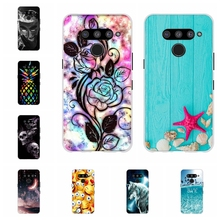 For LG V50 ThinQ 5G Case Soft TPU Silicone LM-V500N LM-V500EM Cover Animal Pattern Capa
