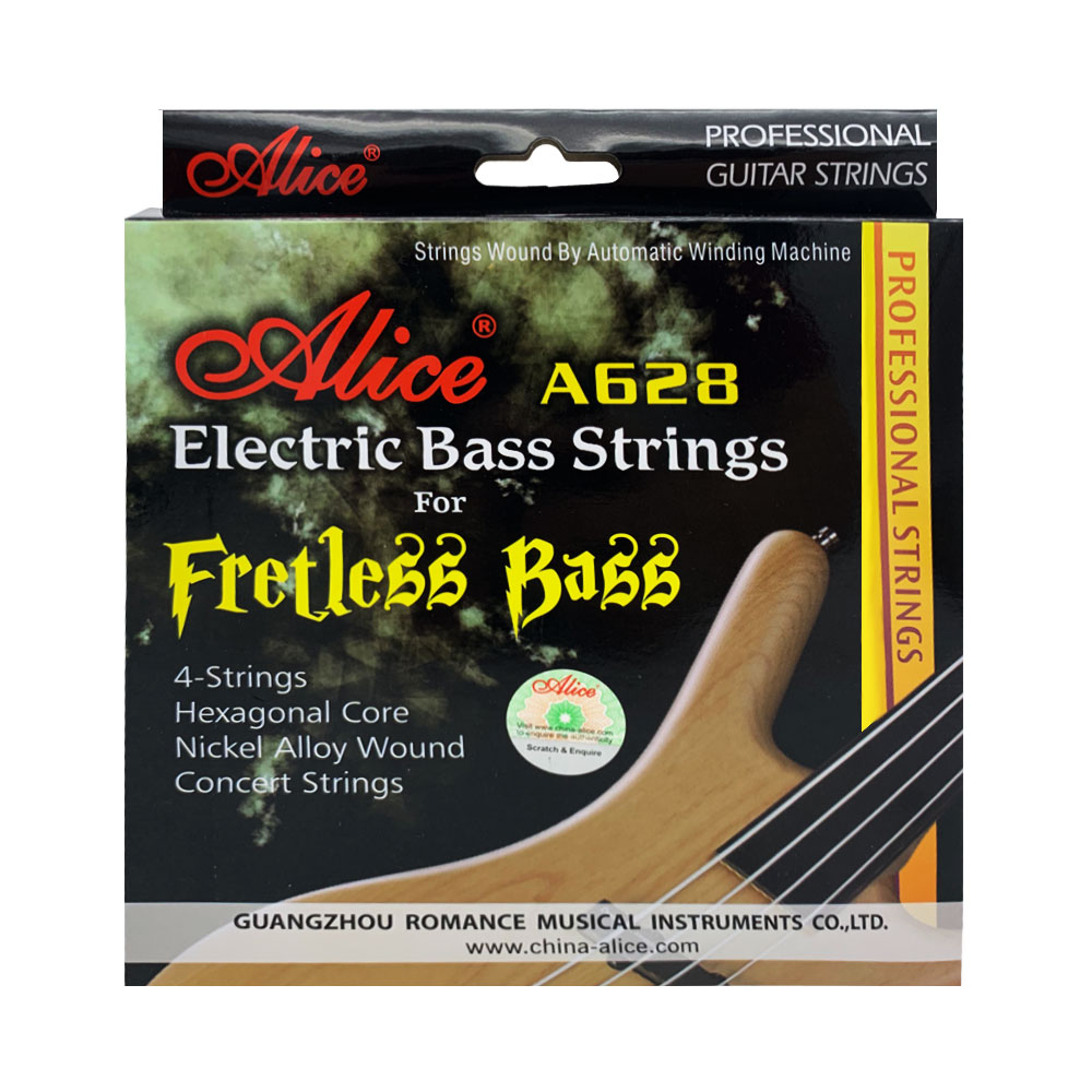 Alice Fretless Bass String Full Set 4 Pieces Electric Bass Guitar Parts Accessories Concert Strings A628