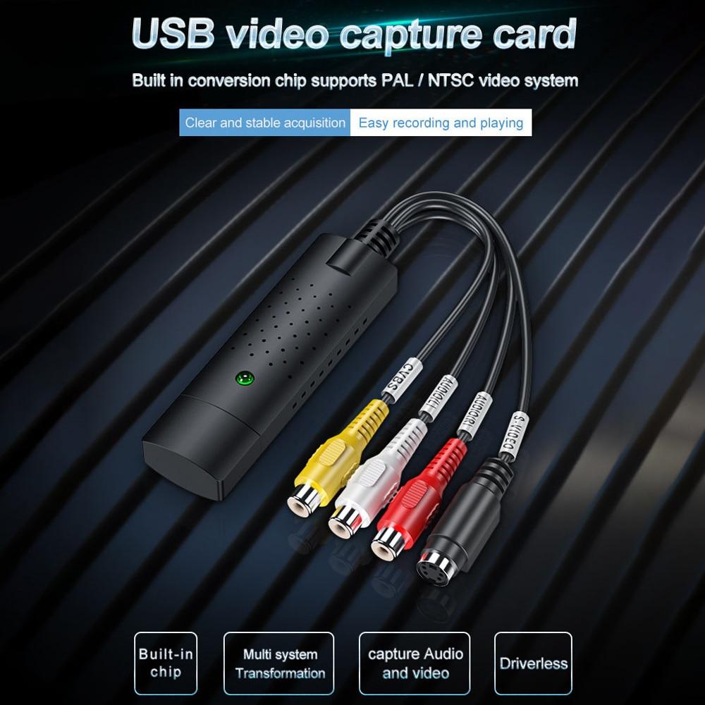 Преобразователь VHS в цифровой преобразователь, USB 2,0, видеоконвертер, карта захвата аудио, VHS Box, VHS, VCR, ТВ в цифровой преобразователь, поддержка Win 7/8/10|Карты видео- и ТВ-тюнеров|   | АлиЭкспресс