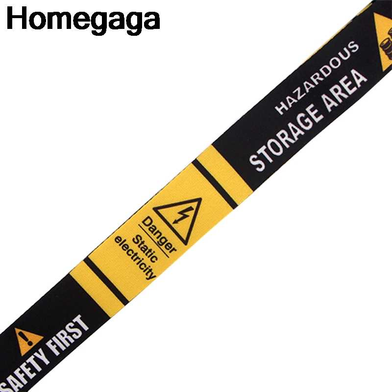 Homegaga Tanda Peringatan Kategori Leher Tali Lanyard untuk Kunci ID Kartu Pass Gym Ponsel Usb Pemegang Lencana Diy Hang tali D2284