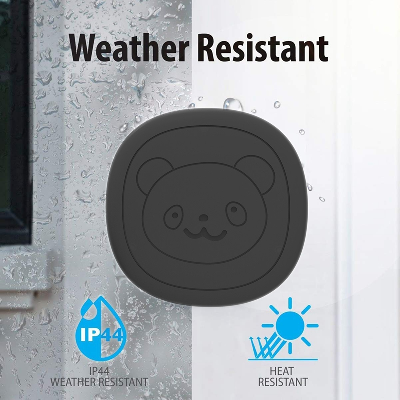 Pet Dog Doorbells Wireless Door Bell House-Training Multifunction Sensor Motion (Receiver & Transmitters) Training Tool US Plug-3