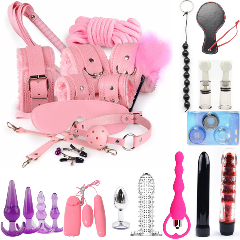 25PCS Sex Toys For Women G Spot Dildo Vibratorn Butt Anal Plug Penis Cover Slave Games Handcuffs For Sex  Bdsm Sex Bondage Set