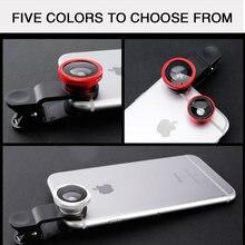 Lente do telefone dos peixes genérico câmera para smartphone grande angular olho de peixe lente e clipe macro câmera define 3 em 1 suporte iphone samsung