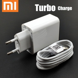 Original EU xiaomi turbo charger 27W QC 4.0 fast charge adapter usb type c cable for mi 9 se 9t cc9 redmi note 7 8 K20 Pro mix 4(China)