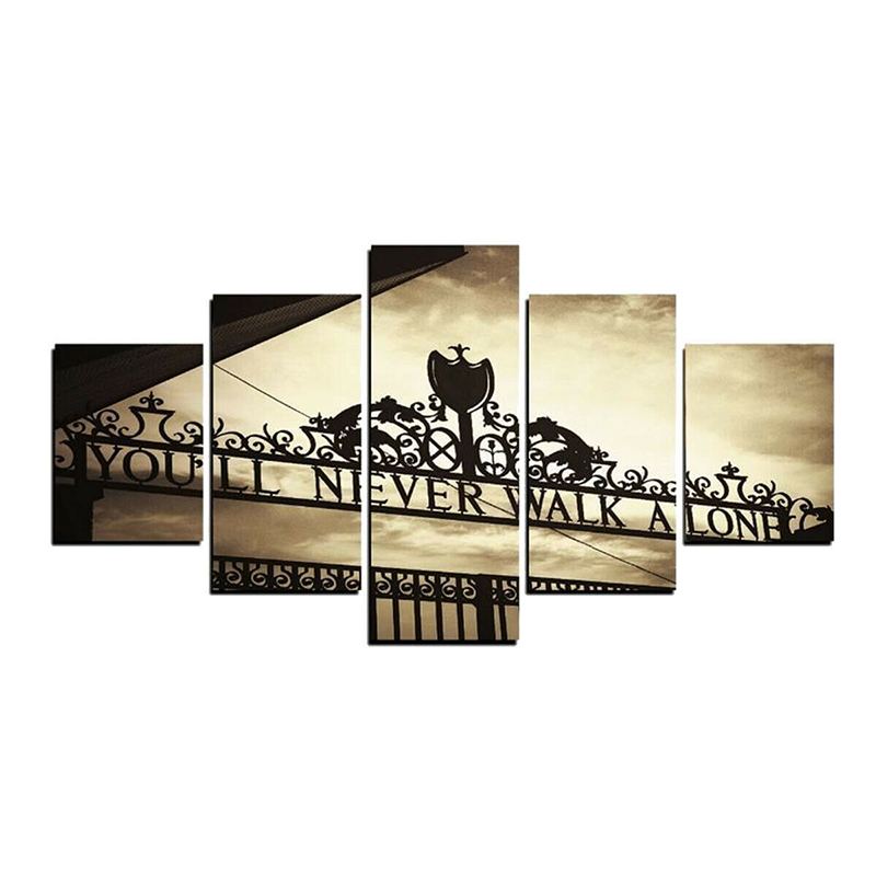 5 Canvas Pictures Panel Posters Frameless Canvas Pictures Set Split Wall Art Decorations Approx 20x30cm+20x40cm+20x50CM