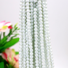 Pure white/Ivory 3mm~12mm Glass Round Beads Perforated Pearls For DIY Beaded Earrings Bracelets Necklaces Jewelry Making