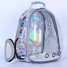 Holographic Breathable Astronaut Pet Cat Dog Puppy Carrier Outdoor Travel Bag Space Capsule Backpack F42A