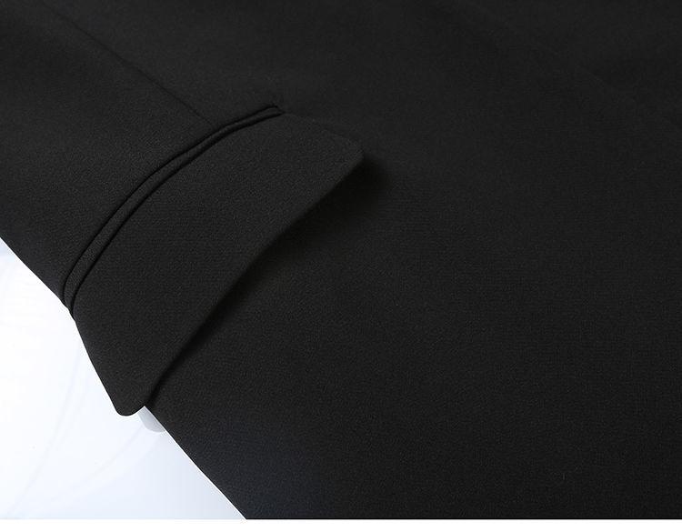 Elegant Black Single Button Women Blazer Jacket 9