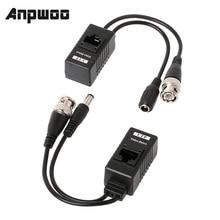 ANPWOO 1 пара BNC к RJ45 Пассивный Видео мощность + Аудио балун приемопередатчик для CCTV камеры