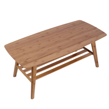 Home-Furniture Tea-Table Bamboo Coffee Living-Room Modern 100x50x40cm Double-Layer Fashion