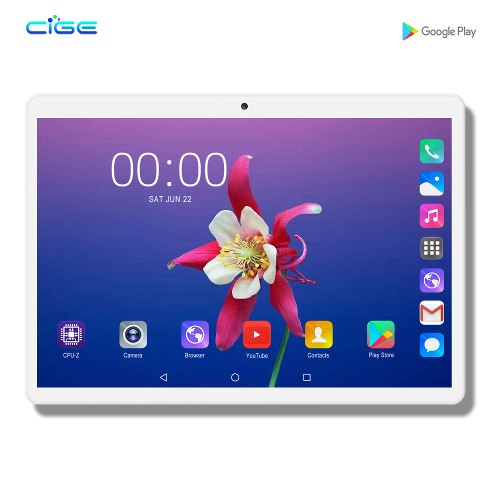 Newest Tablet Pc 128GB Android 9.0 10 Inch Tablets Octa Core 4G FDD LTE 6GB RAM 128GB ROM 2.5D Glass Screen Tablet Pcs 10.1