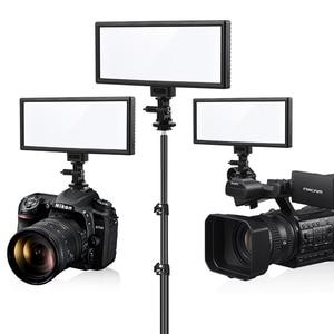 Image 2 - Viltrox L132T Đèn LED Video Siêu Mỏng Màn Hình Hiển Thị LCD Bi Màu Sắc & Mờ DSLR Phòng Thu Ánh Sáng Đèn Với Bảng Điều Khiển máy Quay Phim