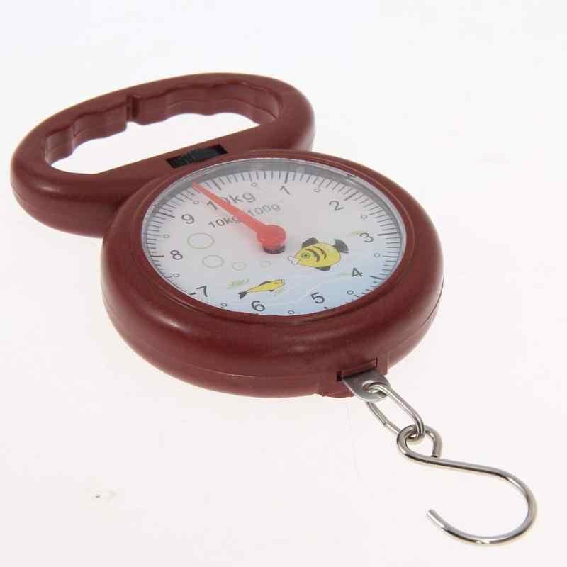 10kg pesant Portable chiffre Mini pointeur crochet ressort Balance suspendue échelle épicerie Shopping poisson Type juste échelle