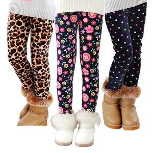 VEENIBEAR Autumn Winter Girls Pants Velvet Thicken Warm Girls Leggings Kids Children Pants Girls Clothing For Winter 2-7T(China)