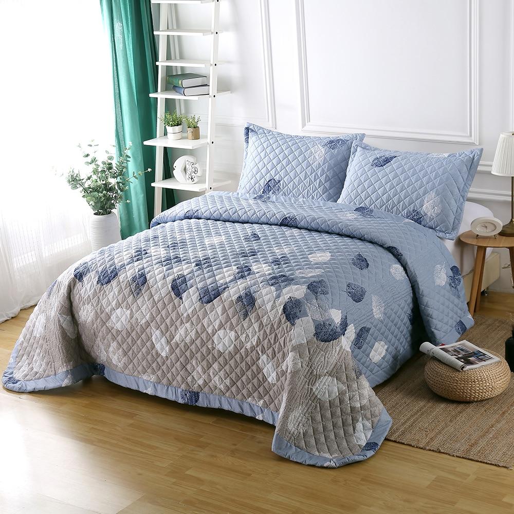 3D Blau/Weiß/Grau Lassen Gedruckt Luxus Sommer Kühl Quilt 3 Stück Mikrofaser Mädchen Cartoon Tröster Hause Luft conditioner Quilt