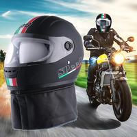 New Motorcycle Full face Helmet HD Wear resistant Anti fog Lens Clear Visor With Removable Warm Collar PP Material Fit For Adult