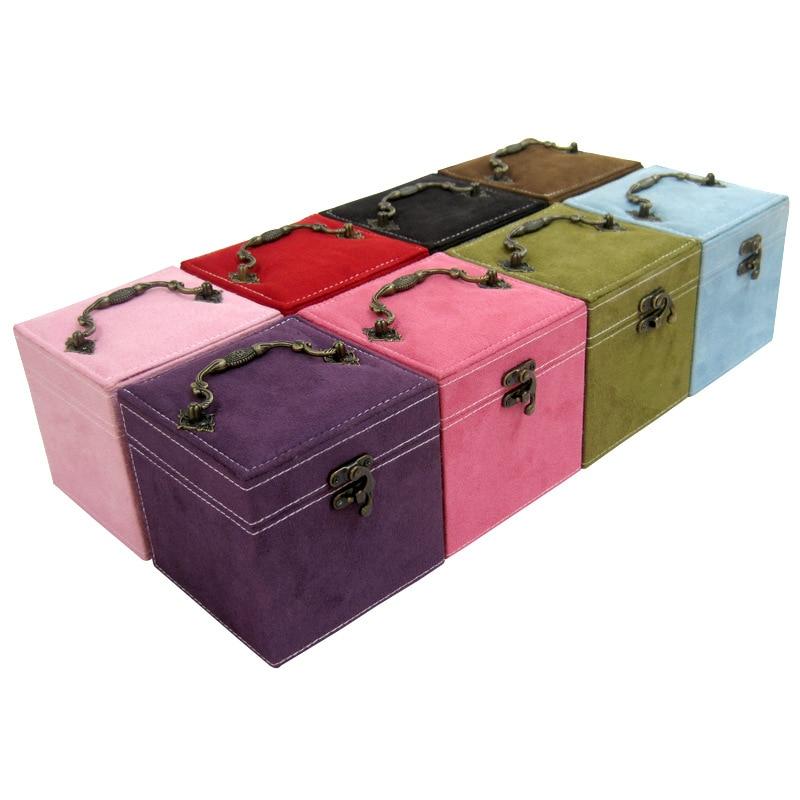 Ya Ni Sha Jewlery Box Fleece Three-Layer Jewlery Box Hot Selling Multi-color
