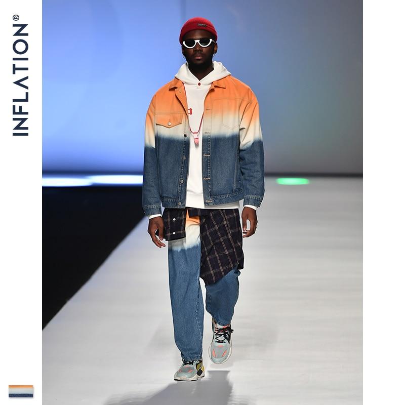 INFLATION Men's Suits Casual Mens Denim Suit Oversized Men Denim Suit In Tie-Dye Men High Quality Loose Fit Denim Men Jean Suit