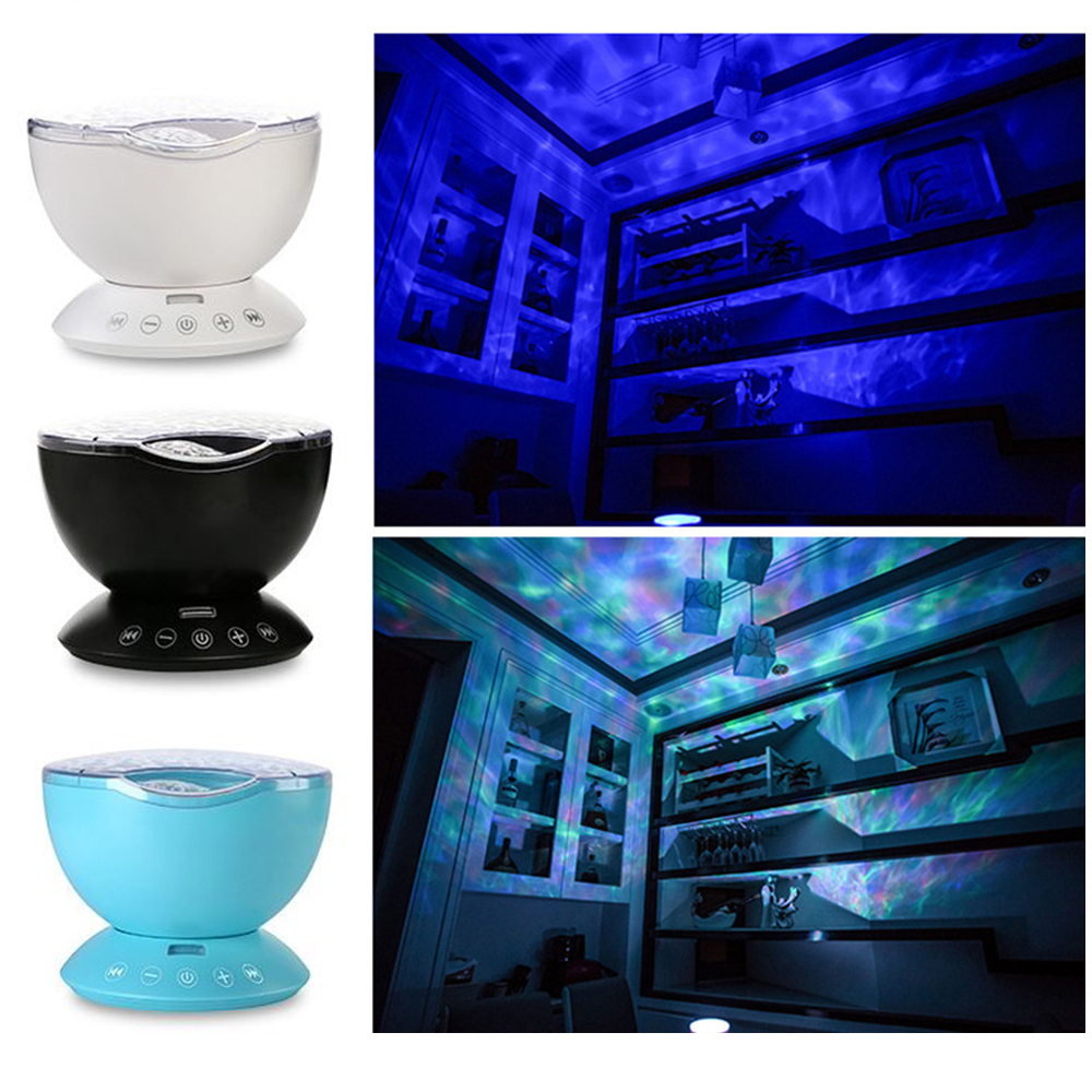 Remote Control Ocean Starry Sky Star USB LED Projector Night Lamp Bedroom Party Projection Lamp Children Baby Sleep Night Light