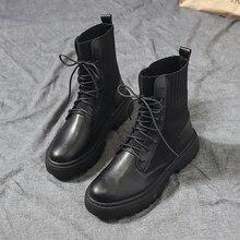Bottines Marten pour femmes, bottines de moto, à la mode, pour loisirs, collection chaussures décontractées