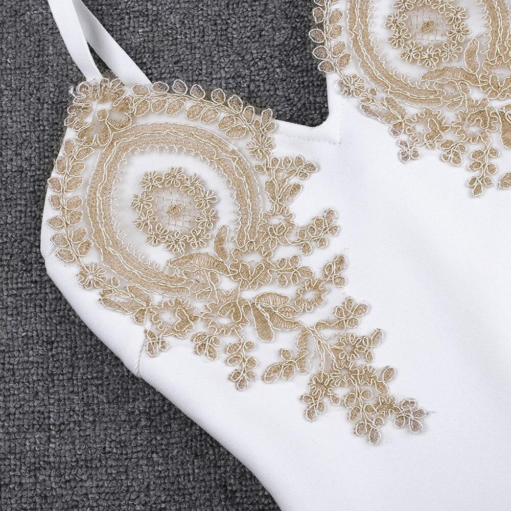 春夏新到着刺繍女性白包帯ドレスボディコンパーティードレス Natural 2019 Ocstrade 13