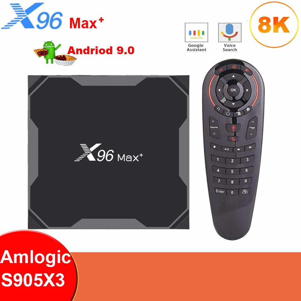 Original X96 Max Plus Android 9.0 กล่องทีวีAmlogic S905X3 Quad Core 4G 32G/64G wifi X96 สูงสุด 2G 16G 8K HDสมาร์ทMedia Player