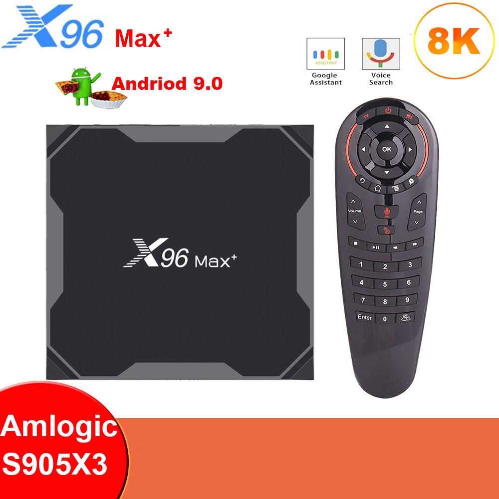 X96 Smart-Media-Player Tv-Box 8K S905X3 Max-Plus Android 9.0 Dual 32G/64G Wifi-X96 Quad-Core title=