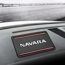Carro Anti-Slip Mat Auto Painel Interior de Silicone Telefone Anti-Slip Mat Armazenamento Pad ajuste para Nissan Navara d40 d22 np300 d23