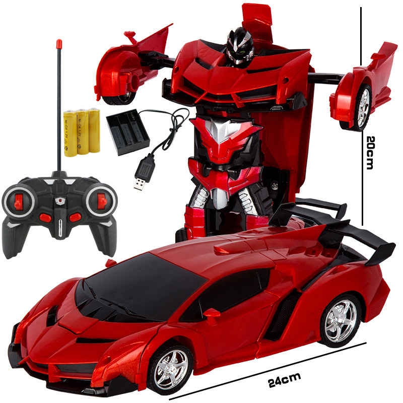 NEW 1:18 CARS Rc Transformer 2 In 1 RC Car Driving Sports Vehicle Drive Transformation Robots Models Remote Control Car Toy
