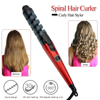 Professional Electric Hair Curlers Curl Ceramic Spiral Hair Curling Iron Roller Curling Wand Salon Hair Styling Tools Portable 1