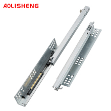 AOLISHENG Drawer Bottom Mount Concealed Two Section Soft Closing Kitchen Cabinet Slides