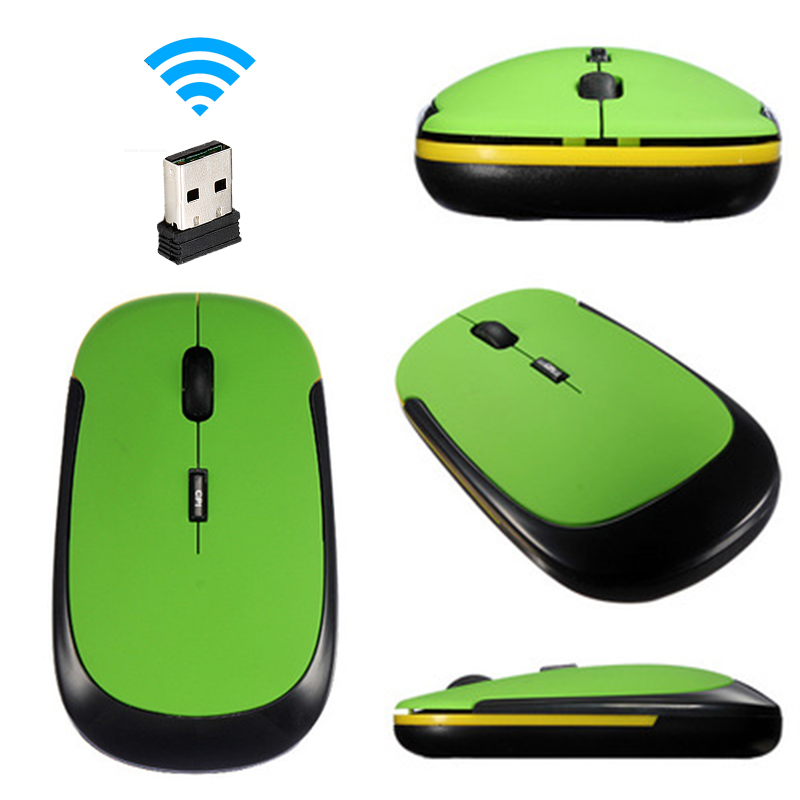 Ultra Thin 2.4GHz Wireless Optical Mouse Computer PC Mice With USB Adapter Mause For All Computer Laptop Mouse Wireless Gamer