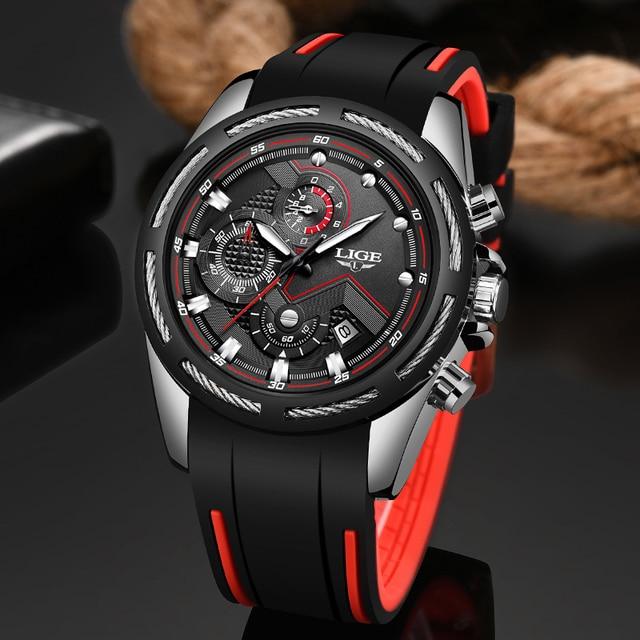 Relogio Masculino 2019 ליגע חדש שעון גברים ספורט קוורץ שעון מקורי מותג Mens שעונים נירוסטה חיוג עמיד למים שעון