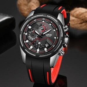 Image 1 - Relogio masculino 2019 lige novo relógio do esporte dos homens relógio de quartzo marca original dos relógios de aço inoxidável dial relógio à prova dwaterproof água