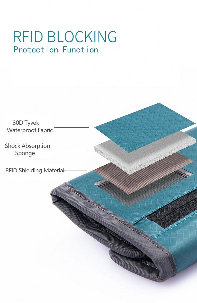 impermeável saco de armazenamento de documentos rfid bloqueando 3 cores