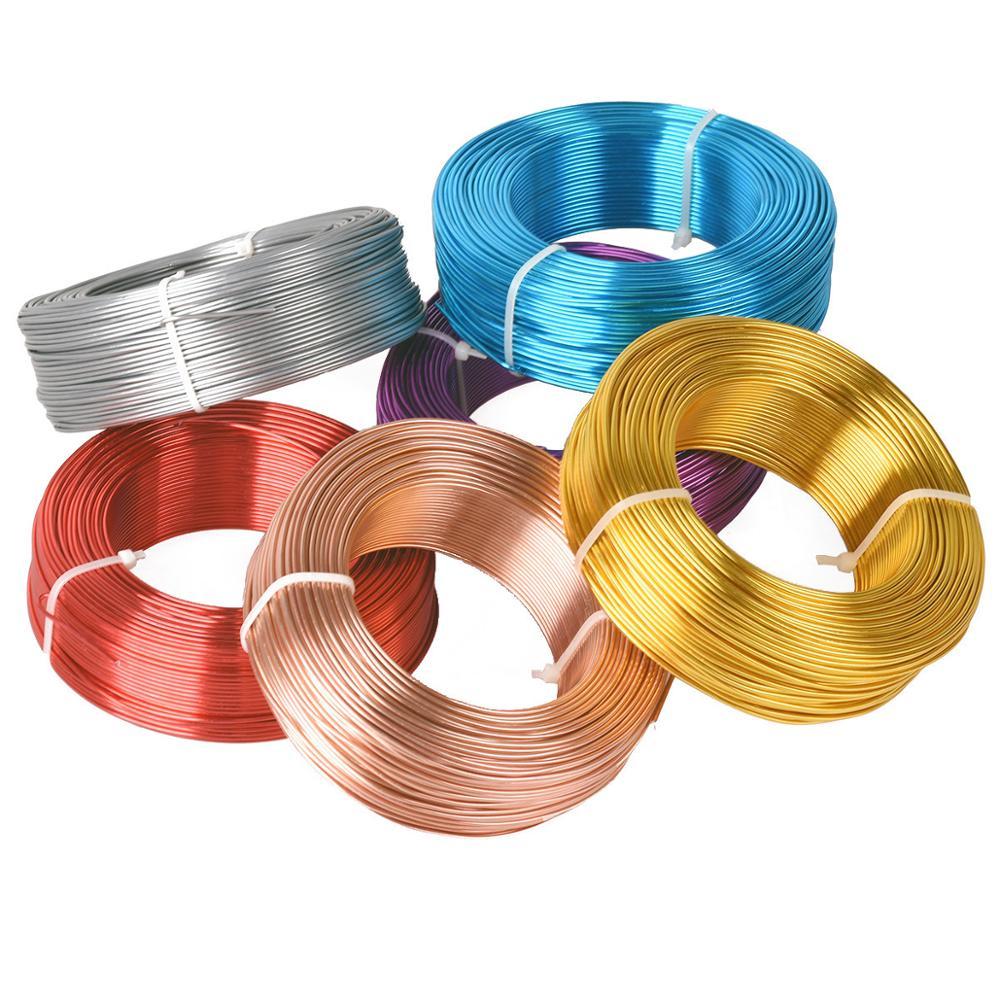 1 большой рулон 0,8 мм/1 мм/1,5 мм/2 мм/2,5 мм/3 мм алюминиевый мягкий металлический ремесленный бисерный провод для самостоятельного изготовления ...