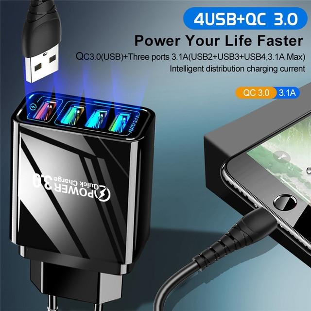 Lovebay 48W Caricabatterie Rapido 3.0 del Caricatore del USB Per il iphone Samsung Tablet UE Spina DEGLI STATI UNITI Della Parete Adattatore Del Caricatore Del Telefono Mobile ricarica veloce 3