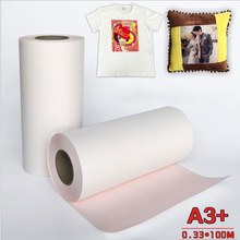 Heat-Transfer-Paper Paper-Roll Sublimation A3 Pink T-Shirt Non-Pure Cotton