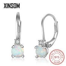 XINSOM 925 Sterling Silver Earrings For Women Girls Elegant Opal Dangle Earrings Party Wedding Jewelry Christmas Gifts 20XS1018