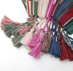 Fabric Bangle Embroidery Woven Bracelet Logo Women Wristband Cotton Brand for No-Box