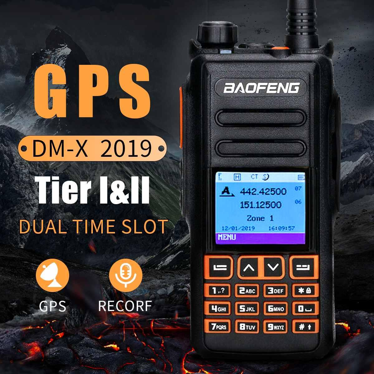 2019 Baofeng DM-X Digital Walkie Talkie GPS Record Tier 1&2 Dual Band Dual Time Slot DMR Digital/Analog Repeater Upgrade DM-1702
