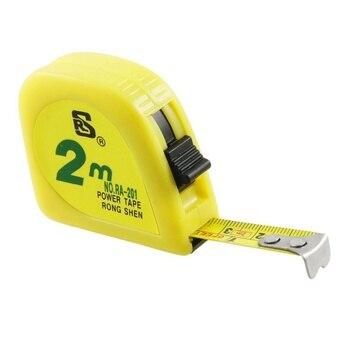 Amarillo 2M 6FT cinta Metro medición cinta escala Cápsula de metal