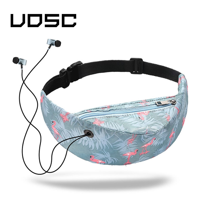 UOSC  Brand 2019 New Colorful Waist Bag Waterproof Travelling Fanny Pack Mobile Phone Waist Pack For Women Designer Belt Bag