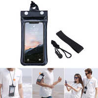 Mobile Phone Waterproof Bag 6 Inch Outdoor Swimming Wall Mount Transparent Touch Screen Drifting Waterproof Bag Protector