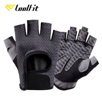 CoolFit Breathable Fitness Gloves Silicone Palm Hollow Back Gym Gloves Weightlifting Workout Dumbbell Crossfit Bodybuilding 2