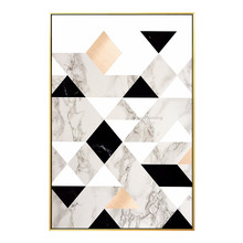 Artist Hand painted Geometric oil painting on canvas wall art pictures for living room modern abstract home decor