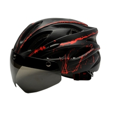 Bike Helmet With Goggle Ultralight Windproof Bicycle Glasses For Mtb Road