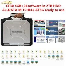 2020 Alle Gegevens Auto Reparatie Alldata 10.53 M .. T .. L 2015 Atsg 2017 24 In 2Tb Hdd installeren Goed Computer Voor Panasonic Cf30 Laptop 4G
